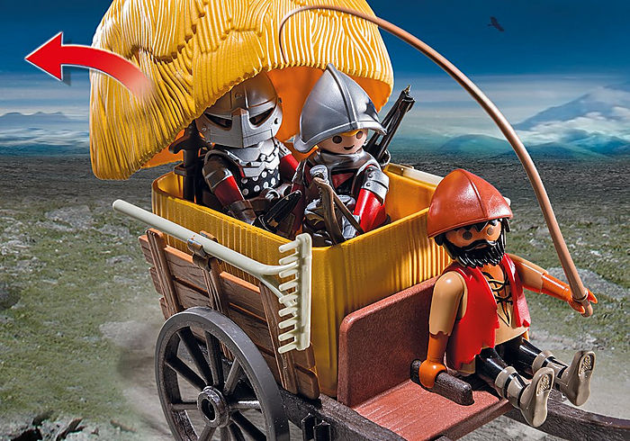 Playmobil Knights Hawk Knights with Camouflage Wagon