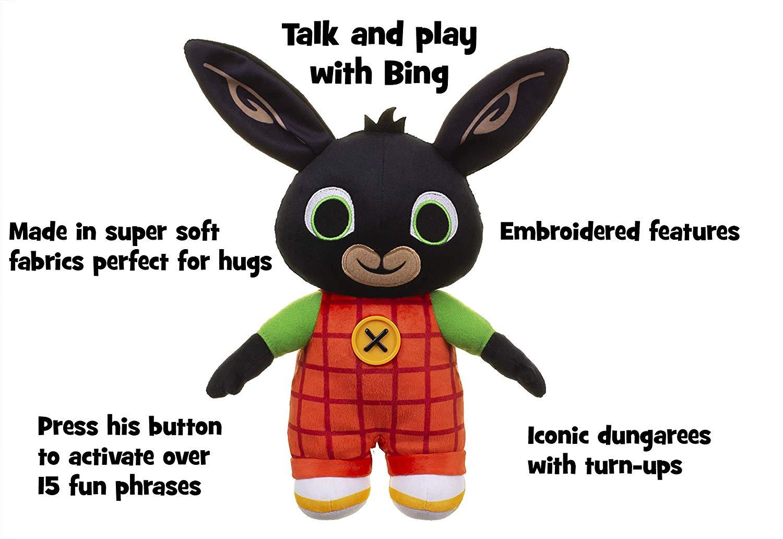 Bing Huggable Talking Bing Soft Toy