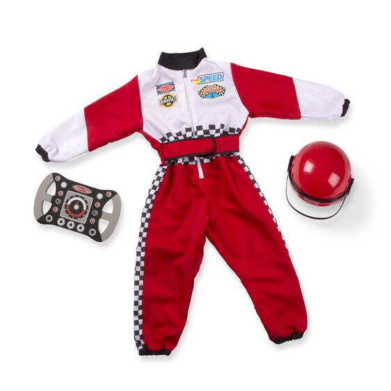 Melissa & Doug F1 Race Car Driver Role Play Costume